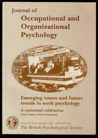 image of Journal of Occupational and Organizational Psychology Volume 74 Part 4