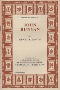 John Bunyan by  Henri A Talon - Revised Edition - 1956 - from Christopher Baron and Biblio.com
