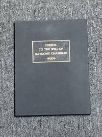 Original Codicil To The Will of Raymond Chandler