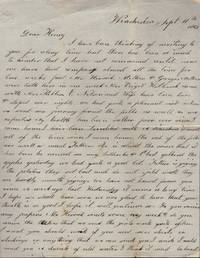 2 Misc. Civil War letters addressed to Henry 1862-1863