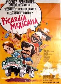 Picardia mexicana. Con Vicente Fernández, Jacqueline Andere, Adalberto Martínez. (Cartel de la película)