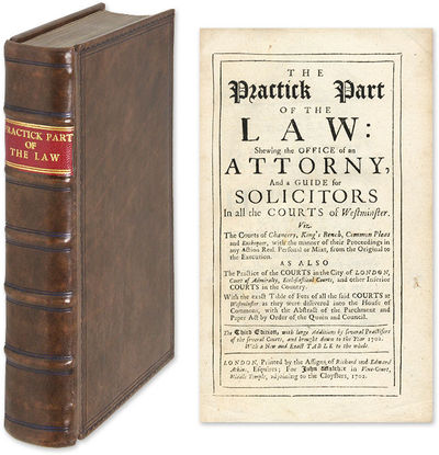 1702. Popular Early Guide to the Daily Practice of English Law G.T., Of Staple Inne. The Practick Pa...