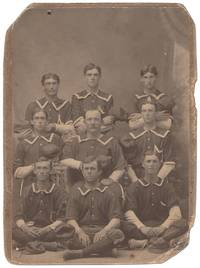 image of [Cabinet photograph]: Very Early 19th Century Baseball Nine