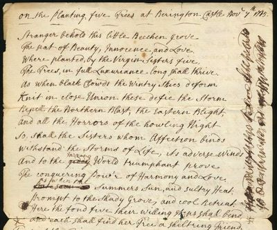 Two original Manuscript Poems, one...