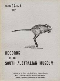 Records of the South Australian Museum Volume 14 No 1 1961 by  Norman (Editor) Tindale - Paperback - 1st thus - 1961 - from Adelaide Booksellers (SKU: BIB308784)