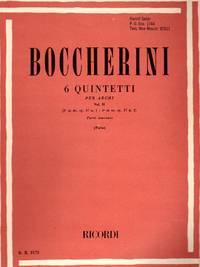 Six [6] Quintetti Per Archi [String Quintets], Volume II [COMPLETE SET of PARTS]