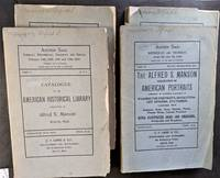 Catalogue of the American Historical Library. With:  Collection of American Portraits and Extra-Illustrated Books.  Together 4 Parts