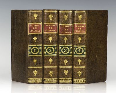 Lyon: Chez Bruyset aine et Buynand, 1805. First edition of this philosophic defense of Catholicism. ...