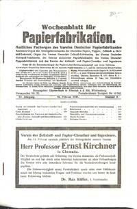 52. Jahrg. No. 8, Februar 1921.