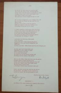 NOH (Signed Broadside Poem)