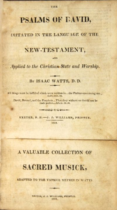 Vialibri The Psalms Of David Imitated In The Language Of The New