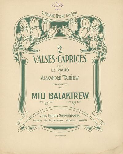 Leipzig: Jul. Heinr. Zimmermann , 1900. BALAKIREV, Mily 1837-1910. Two volumes. Small folio. Origina...