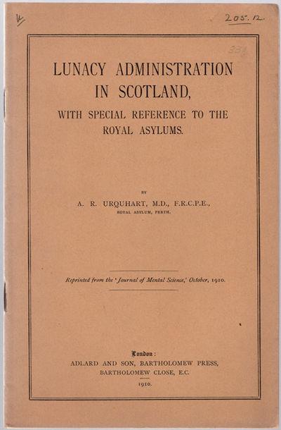 London: Adlard & Son, Bartholomew Press, 1910. 8vo (23.2 cm, 9.125