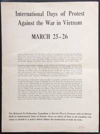image of International Days of Protest Against the War in Vietnam: March 25-26