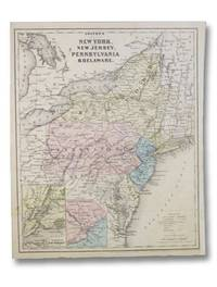1860 Colton's Map: New York, New Jersey, Pennsylvania, & Delaware. / Vermont, Massachusetts, Rhode Island, & Connecticut