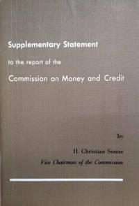 image of Supplementary Statement to the Report of the Commission on Money and Credit