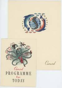 Cunard Line ephemera.