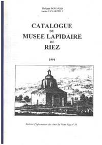 image of Catalogue du musée lapidaire de Riez