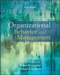 Organizational Behavior and Management by  Robert  John; Konopaske - Paperback - 9 - 2010-02-12 - from Heisenbooks (SKU: O-OrgBehMan9e-a)