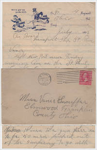 BY THE WAY OUR COMPANY HAS BEEN MADE A DYNAMITE BATTERY WE CARRY 5 DYNAMITE GUNS TAKES 10 MEN TO A GUN. Spanish-American War letter home from a soldier en route to Puerto Rico describing his role in employing the most advance artillery of the time