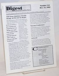 Digest: the treatment and data digest; #141 October 12, 1992; a review of issues addressed by ACT UP\'s T & D Committee on Spet. 9, 16, & 23