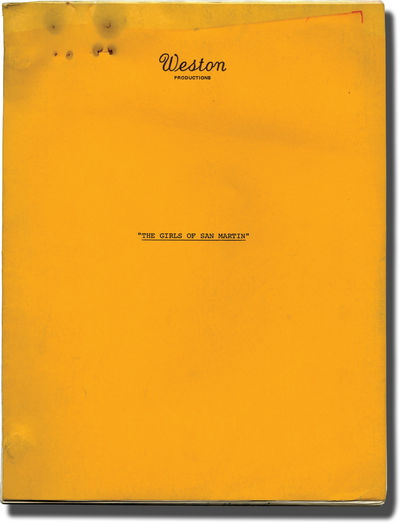 Los Angeles: Jay Weston Productions, 1970. Revised Draft script for an unproduced action film about ...