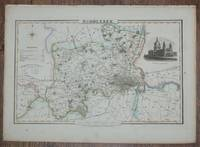 1839 Map of the County of Middlesex - taken from Pigot and Co's British Atlas Comprising the Counties of England (upon which are laid down all railways completed and in progress)
