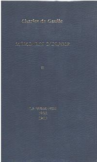 Mémoires d'espoir / tome 1 : le renouveau 1958-1962 by De Gaulle Charles - 1970 - from philippe arnaiz and Biblio.com