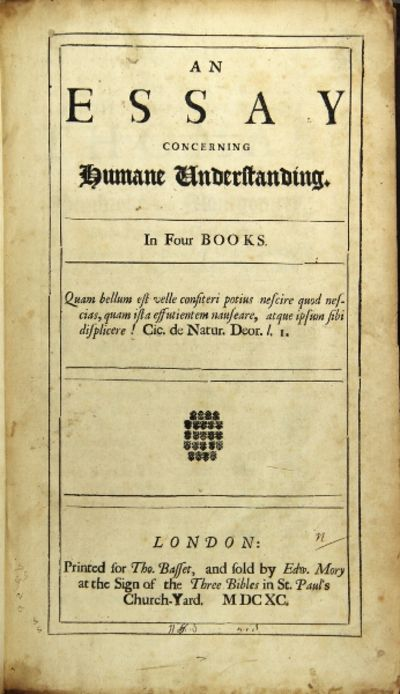 locke essay concerning understanding An essay concerning human understanding is one of john locke's two most  famous works, the other being his second treatise on civil government.