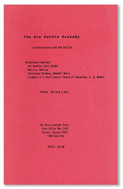 . First Edition. Octavo (21.5cm.); publisher's red printed staplebound card wrappers; ,39pp. Upper p...