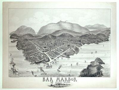 Portland, ME, 1886. No Binding. Near Fine. 16 ¾ x 25 inches.. Two-stone lithograph. Few marginal me...