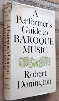image of A Performer's Guide To Baroque Music