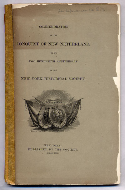 New York Historical Society, 1864. Softcover. Good. First edition. Good with the front cover detache...