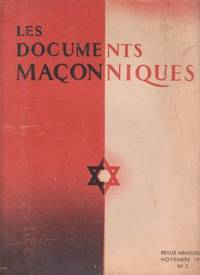 Les Documents Maçonniques n° 2 by Faÿ  Valley-Radot  De Clairvaux  Boudet  Ollivier - 1941 - from Le Grand Chene (SKU: 29568)