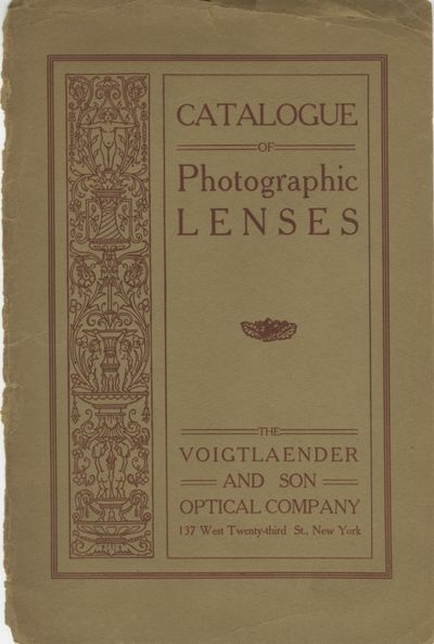 New York: The Voigtländer & Son Optical Company, 1906. 8vo., 16 pp., illustrations. Decorative pa...