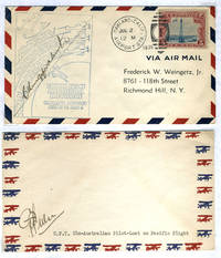 image of First Aviators to Cross Pacific: Kingsford Smith signed cover [with] CPT Ulm signed cover