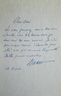 Autograph Letter, Signed. To Edwin Evans