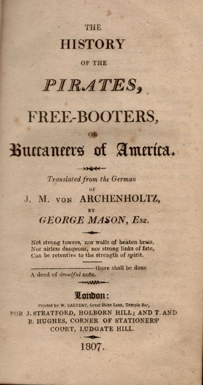 London: Printed by W. Calvert, 1807. Hardcover. Fair. 12mo. xiv, 240 pages. Half title page is prese...