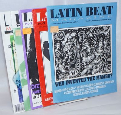 Five issues of the Latin music magazine spanning the period from November 1992 to May 1997. Issues p...