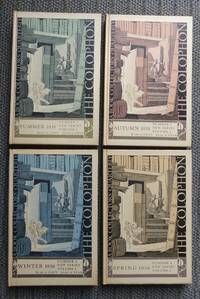 image of THE COLOPHON:  A QUARTERLY FOR BOOKMEN.  NEW SERIES - VOLUME 1, NUMBER 1: SUMMER 1935, NUMBER 2:  AUTUMN 1935, NUMBER 3: WINTER 1936 & NUMBER 4: SPRING 1936 - 4 BOOKS IN TOTAL.