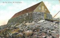 image of Tip Top House, Mt Washington, NH-Colorized View Undivided Reverse Postcard