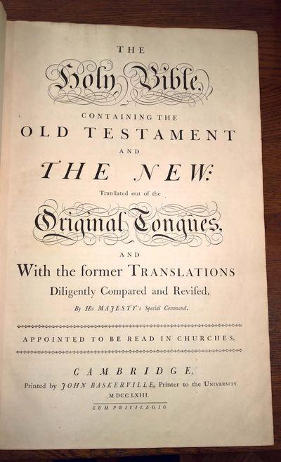 Cambridge: Printed by John Baskerville, Printer to the University, 1763. leaves. Royal folio. Full c...