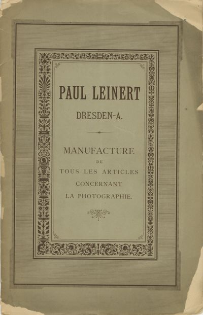 Dresden: Paul Leinert, 1890. 8vo., 31 pp., illustrated. The decorative wrappers are edge-chipped; a ...