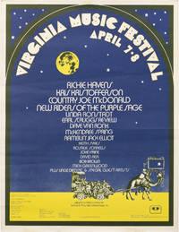 Virginia Music Festival Poster, circa 1973 (Original poster for the Virginia Music Festival)