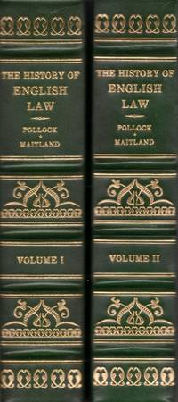 The History Of English Law, Before The Time Of Edward l. 2 Volumes
