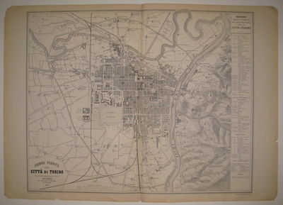 Milan, 1869. unbound. very good. Town plan. Uncolored engraving. Image measures 21.25