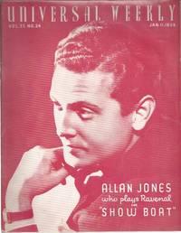 image of Universal weekly magazine: vol.37, no.24: 1936 Jan. 11. Allan Jones