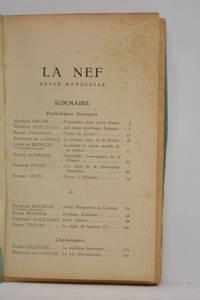 NEF (La). Revue mensuelle. Numéro spécial (4). Problèmes français.