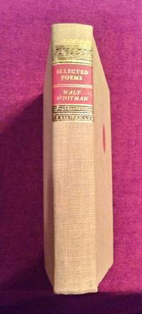 image of WALT WHITMAN SELECTED POEMS