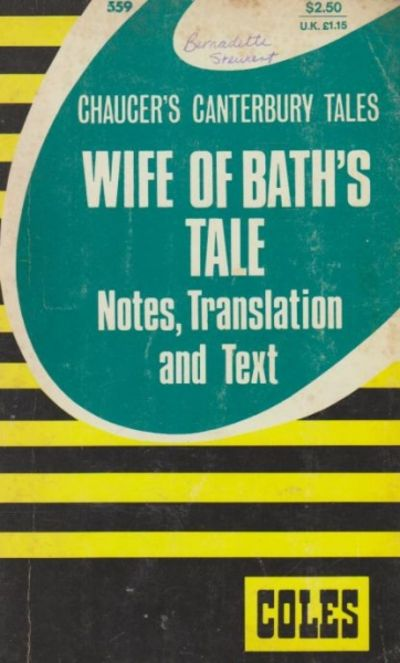 canterbury tales wife of bath analysis Geoffrey chaucer's the canterbury tales: rhetoric and gender in marriage a thesis submitted to the graduate faculty of the  the wife of bath's tale .